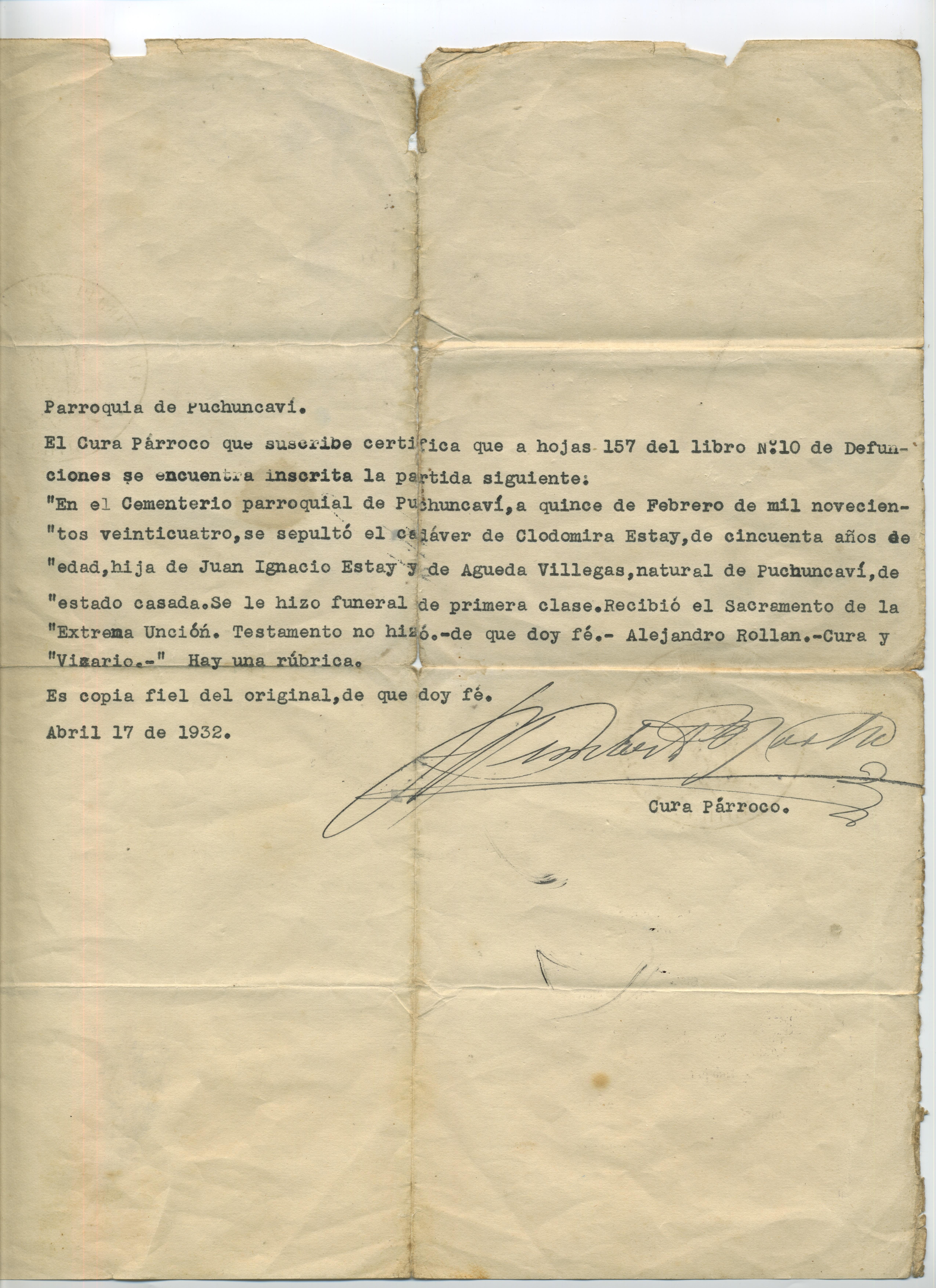 Certificado - Memorias del Siglo XX - Chile - DIBAM