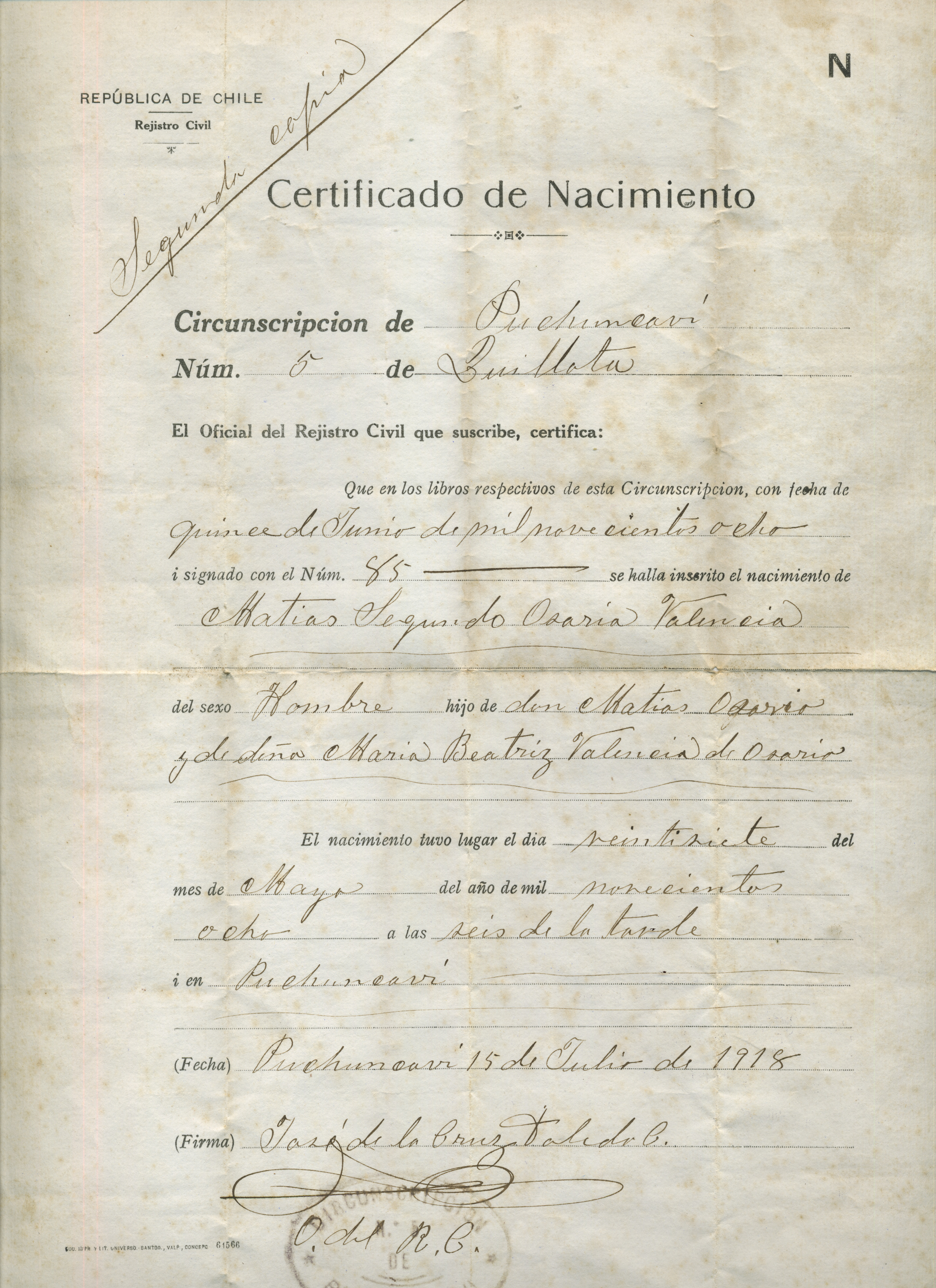 Inscripción del servicio militar obligatorio - Memorias del Siglo XX ...